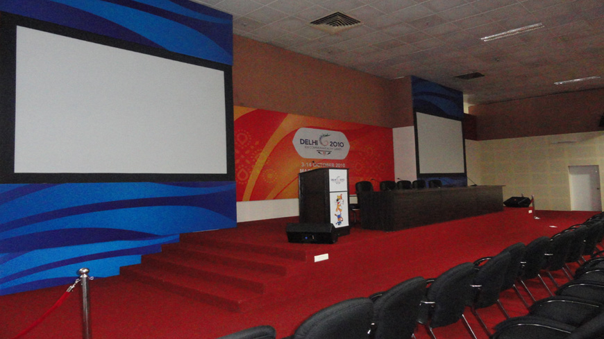 STAGE FURNISHING OF CONFERENCE HALL AT MAIN PRESS CENTRE FOR CWG 2010