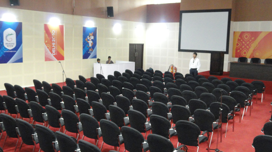 AUDIO VISUAL AND SOUND REINFORCEMENT SYSTEM AT MAIN PRESS CENTRE FOR CWG 2010