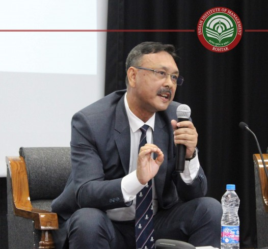 Col. D R Gogoi ( Director of Operations & Marketing ) BECIL. was the speaker