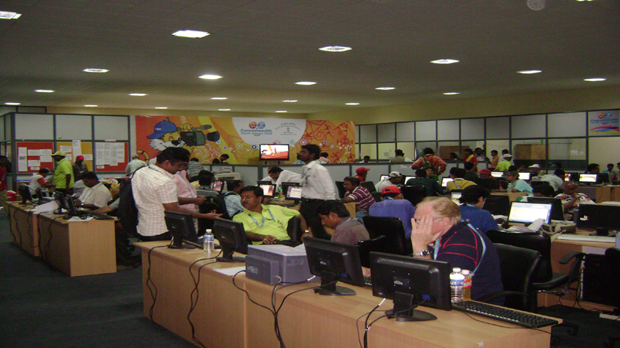 MAIN PRESS CENTRE FOR PIB FOR COMMONWEALTH YOUTH GAMES 2008