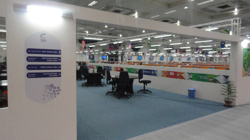 MAIN PRESS CENTER FOR COMMONWEALTH GAMES 2010, NEW DELHI