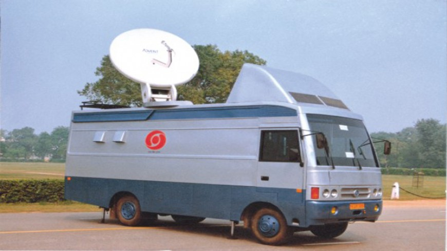 DUAL C-Ku BAND DSNG VAN IN INDIA