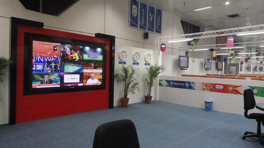 VIDEO WALL AT MAIN PRESS CENTRE,CWG 2010,