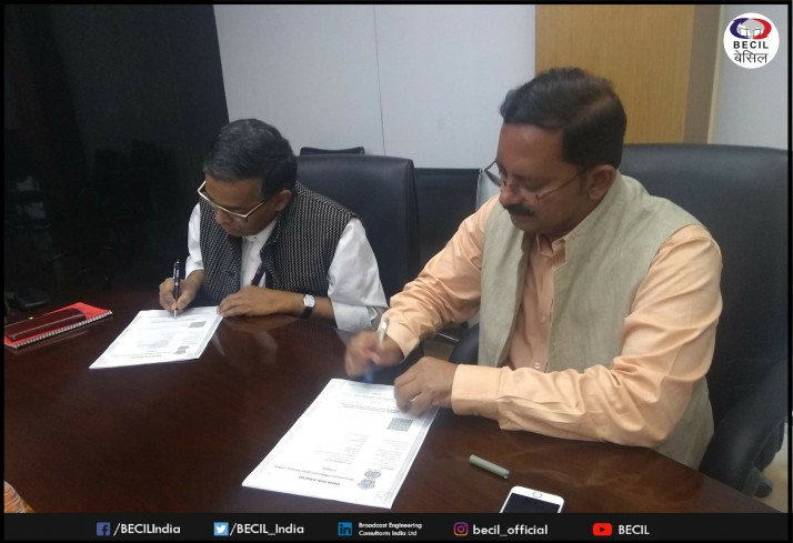 Agreement signed between BECIL & EMMC