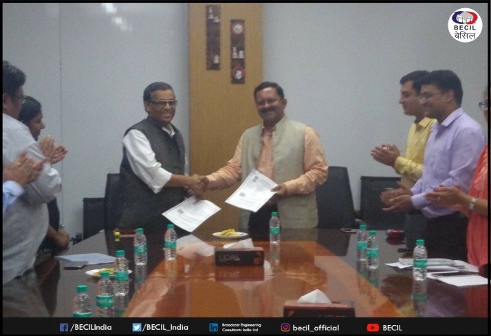 Agreement signed between BECIL & EMMC