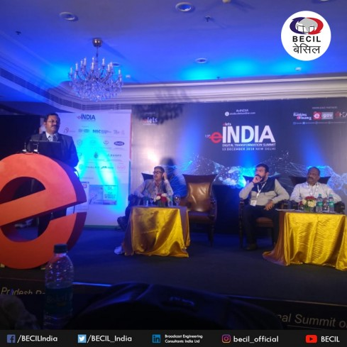 BECIL CMD Mr. George Kuruvilla was among the key speaker at the 13th eIndia Digital Transformation Summit organized by elets.