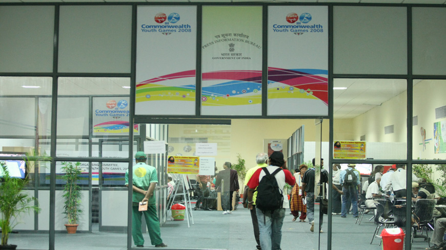 MAIN PRESS CENTRE FOR PIB FOR COMMONWEALTH YOUTH GAMES, 2008
